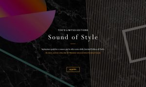 Progetto speciale Tod's limited edition Sound of style